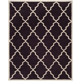 Safavieh Handmade Moroccan Chatham Dark Purple Wool Rug (8' x 10')