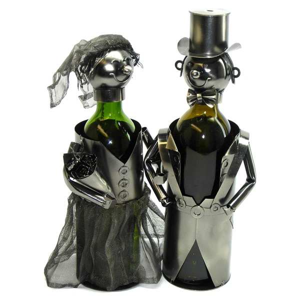 Bride/ Groom Bottle Holder Wine Caddy