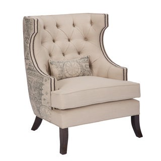 JAR Designs 'Stanford' Nailhead Trim Graphic Printed Chair