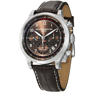 Baume & Mercier Men's 'Capeland' Brown Dial Chronograph Strap Watch