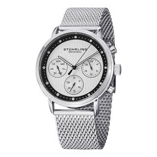 Stuhrling Original Men's Obscure Pro Stainless Steel Bracelet Watch