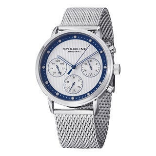 Stuhrling Original Men's Obscure ProStainless Steel Bracelet Watch