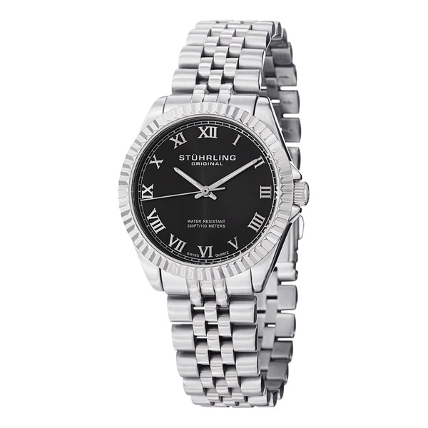 Stuhrling Original Women's Lady Coronet Water-resistant Swiss Quartz Stainless Steel Bracelet Watch