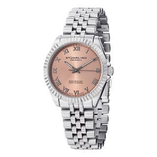 Stuhrling Original Women's Lady Coronet Swiss Quartz Stainless Steel Bracelet Watch