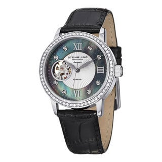 Stuhrling Original Women's Memoire Automatic Leather Strap Watch
