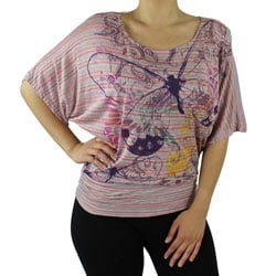 Self Esteem Butterfly Print Top