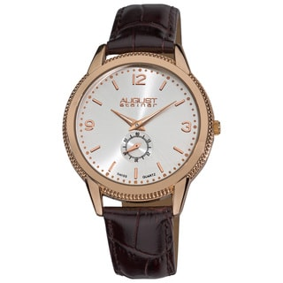 August Steiner Men's Swiss Quartz Strap Watch
