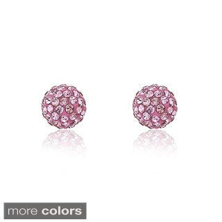 Molly Glitz 14k Goldplated Children's Crystal and Enamel Ball Earrings