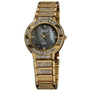 Burgi Women's Mother of Pearl Diamond Quartz Watch