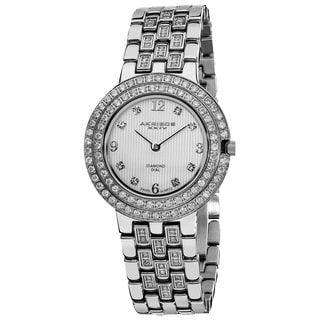 Akribos XXIV Women's Swiss Quartz Diamond Stainless Steel Bracelet Watch