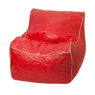 Red Vinyl Sectional Bean Bag