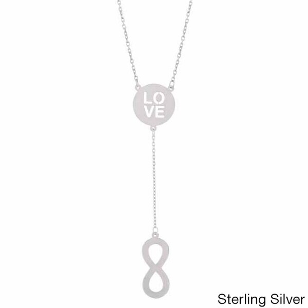 Love Infinity Lariat Necklace