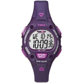 Timex Women's Ironman Traditional 30-Lap Plum Digital Watch