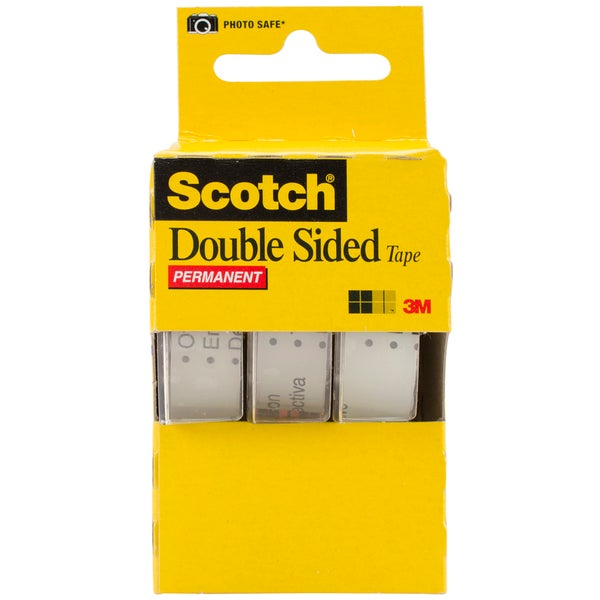 Scotch Permanent Double Sided Tape 5X250IN (3 Pack)