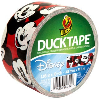 Mickey Mouse Licensed Duck Tape 1.88-inch Wide 10 Yard Roll