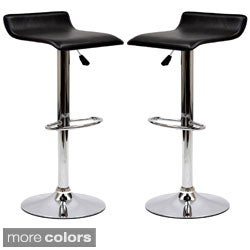 Gloria Leatherette Bar Stools (Set of 2)