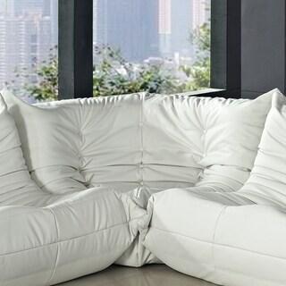 Waverunner White Vinyl Corner Sofa