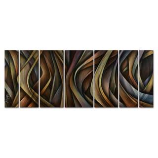 Michael Lang 'Waving Grains' Metal Wall Sculpture 7-piece Set