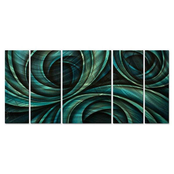 Michael lang 39 rolling 39 metal wall decor 5 piece set for 5 piece mural
