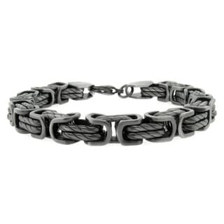 Gunmetal IP Stainless Steel 8-mm Link Bracelet
