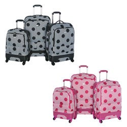 Olympia 'Madrid' 3-piece Hybrid Spinner Luggage Set