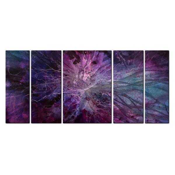 Michael Lang 'Violet Universe' Metal Wall Art