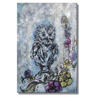 Christina Loraine 'Baby Owl Dreams in Color' Metal Wall Sculpture