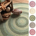 Cake Walk Cotton Candy Multi Area Rug (8' Round)