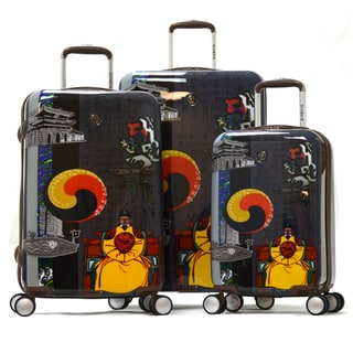 Olympia 'King Sejong' Art Series 3-piece Hardside Spinner Luggage Set