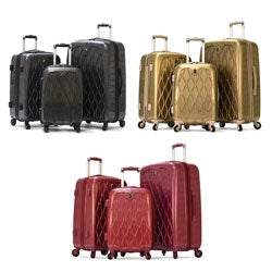 Olympia 'Hancock' 3-piece Hardside Spinner Luggage Set