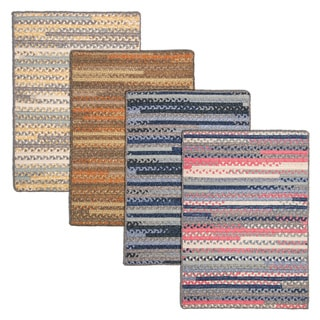 Perfect Stitch Multicolor Braided Cotton-blend Rug (8' x 10')