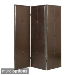Regent 3 or 4-Panel Leather Screen (China)