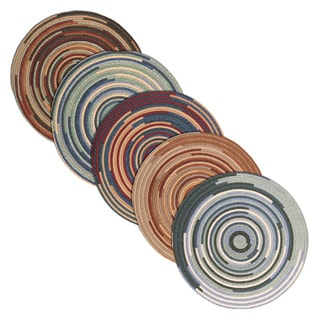 Multicolored Artisan Braided Cotton Blend Rug (8' Round)