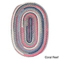 Perfect Stitch Multicolor Braided Cotton-blend Rug (2' x 3' Oval)