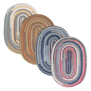 Perfect Stitch Multicolor Braided Cotton-blend Rug (6' x 9' Oval)