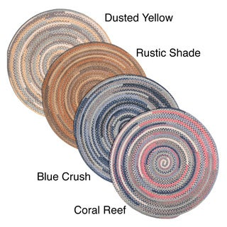 Perfect Stitch Multicolor Braided Cotton-blend Rug (6' Round)