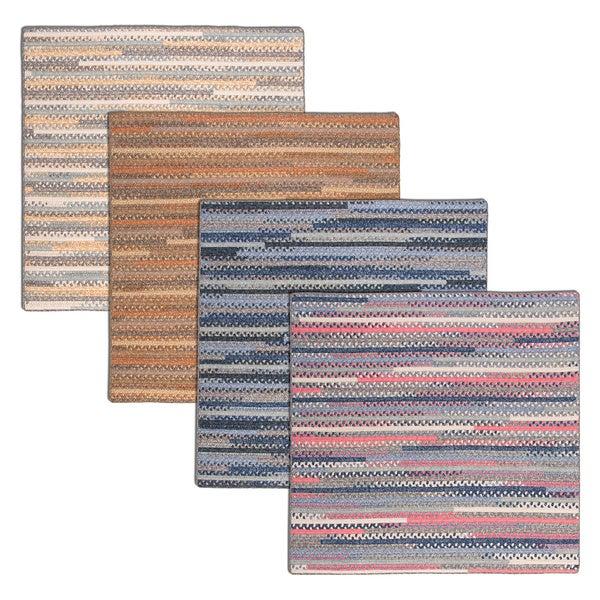 Perfect Stitch Multicolor Braided Cotton-blend Rug (8' Square)