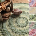 Cake Walk Multicolored Braided Rug (4' x 6' Oval)