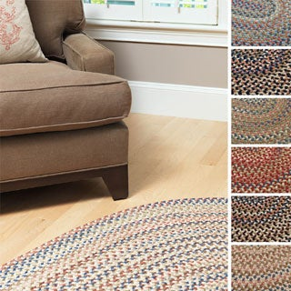 'Greenwood' Multi-colored Flat Braided Rug (4' x 6')