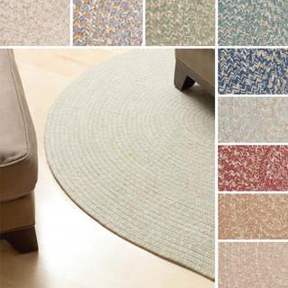 'Urban' Wool Blend Flat Braided Rug (2' x 3' Oval)