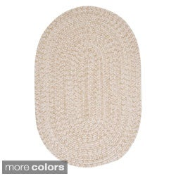'Urban' Wool Blend Flat Braided Rug (2' x 3' Oval)