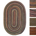 Forester Multicolored Wool Area Rug (8' x 10' Oval)