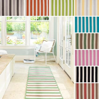 Striped Out Indoor/ Outdoor Area Rug (8' x 8')