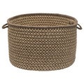 Natural Wool Criss-cross Braided Basket