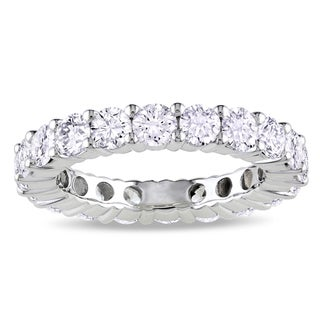 Miadora 18k White Gold 3ct TDW Certified Diamond Eternity Ring (G-H, I1)