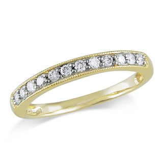 Miadora 14k Yellow Gold 1/4ct TDW Diamond Wedding Band (G-H, I1-I2)