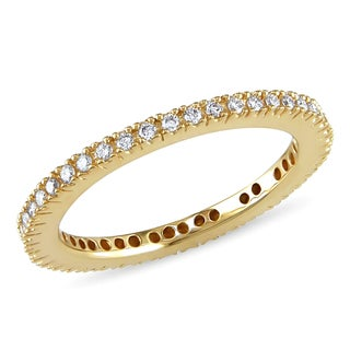 Miadora 18k Yellow Gold 1/4ct TDW Diamond Eternity Ring (G-H, SI1-SI2)