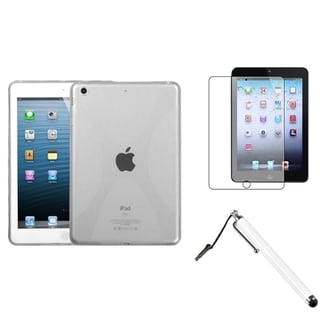 BasAcc T-Clear X-Shape Case/ Stylus/ LCD Protector for Apple iPad Mini