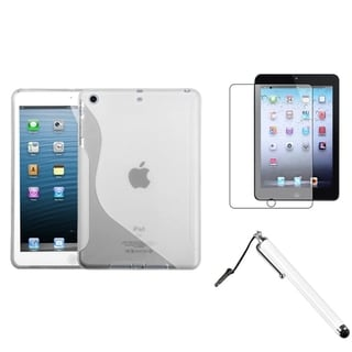 BasAcc Clear S-Shape Case/ Stylus/ LCD Protector for Apple iPad Mini
