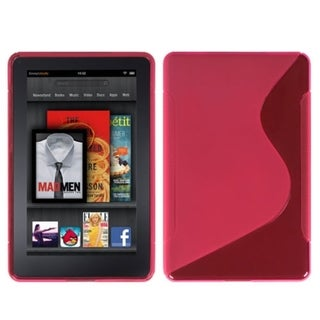 BasAcc Hot Pink/ S-shape Candy Skin Case for Kindle Fire